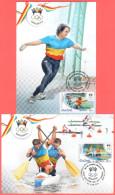 """Moldova 2016 """"XXXI Summer Olympic Games. Rio De Janeiro"""" 2 Maximum Cards Quality:100% - Summer 2016: Rio De Janeiro"""