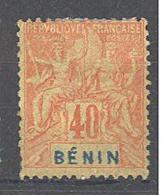 Bénin: Yvert N°42 * - Bénin (1892-1894)