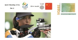 Spain 2016 - Summer Olympic Games Rio 2016 -  Silver Medal Sport Shooting 10 M. Cover - Table Tennis