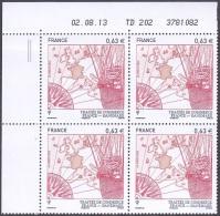 France Coin Daté N° 4817 ** (2tirets)Traités De Commerce France - Danemark  Du 02.08.2013 - 2010-....