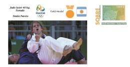 Spain 2016 - Summer Olympic Games Rio 2016 -  Gold Medal Judo Female Argentina Cover - Tenis De Mesa