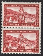 ALGERIE 1955 - PAIRE  Y.T. N° 326 - 2 TP NEUFS** - A32 - Algérie (1924-1962)