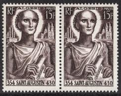 ALGERIE 1954 - PAIRE  Y.T. N° 318 - 2 TP NEUFS** - A33 - Algérie (1924-1962)