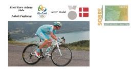 Spain 2016 - Olympic Games Rio 2016 - Silver Medal Ciclyng Road Race Denmark Cover - Tenis De Mesa