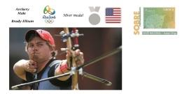 Spain 2016 - Olympic Games Rio 2016 - Silver Medal Archery Male U.S.A. Cover - Tenis De Mesa