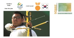 Spain 2016 - Olympic Games Rio 2016 - Gold Medal Archery Male South Korea Cover - Juegos Olímpicos