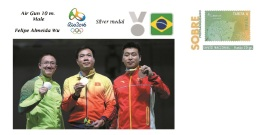 Spain 2016 - Olympic Games Rio 2016 - Silver Medal Air Gun 10 M. Male Brasil Cover - Juegos Olímpicos