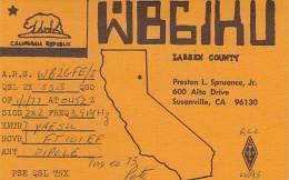 Amateur Radio QSL - WB6IKU - Susanville, CA -USA- 1977 - Radio Amateur