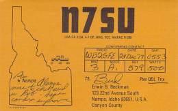 Amateur Radio QSL - N7SU - Nampa, ID -USA- 1977 On 3MHz CW - Radio Amateur