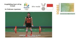 Spain 2016 - Olympic Games Rio 2016 - Silver Medal Weigh Female Least 48kg. Indonesia Cover - Juegos Olímpicos