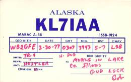 Amateur Radio QSL - KL7IAA/M Mobile In Lake County, IL -USA- 1977 - Radio Amateur