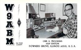 Amateur Radio QSL - W9ABM - Downers Grove, IL -USA- 1977 - 2 Scans - Radio Amateur