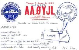 Amateur Radio QSL - AA0YJL / WA0YJL Mobile In Cerro Gordo County, IA -USA- - Radio Amateur