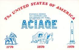 Amateur Radio QSL - AC1AQE - Chelmsford, MA -USA- 1977 - 2 Scans - Radio Amateur