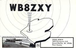 Amateur Radio QSL - WB8ZXY - Grand Rapids, MI -USA- 1977 - 2 Scans - Radio Amateur