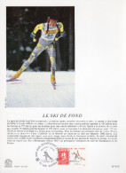 "FRANCE 1991 : Encart Philatélique 1er Jour "" JO D´ALBERTVILLE : SKI DE FONDS "" N° YT 2678."