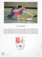 "FRANCE 1991 : Encart Philatélique 1er Jour "" JO D´ALBERTVILLE : LE CURLING "" N° YT 2680."