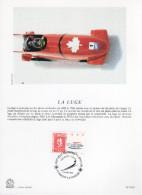 "FRANCE 1991 : Encart Philatélique 1er Jour "" JO D´ALBERTVILLE : LA LUGE "" N° YT 2679."