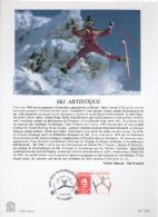 "FRANCE 1991 : Encart Philatélique 1er Jour "" JO D´ALBERTVILLE : SKI ARTISTIQUE "" N° YT 2709."
