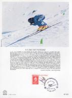 """FRANCE 1991 : Encart Philatélique 1er Jour """" JO D´ALBERTVILLE : SKI DE VITESSE """" N° YT 2675."""