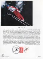 """FRANCE 1991 : Encart Philatélique 1er Jour """" JO D´ALBERTVILLE : LE SAUT """" N° YT 2674."""