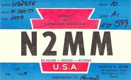 Amateur Radio QSL - N2MM - WIllingboro, NJ -USA- 1977 - Radio Amateur