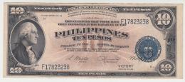 Philippines 10 Pesos 1944 VF++ CRISP Banknote Pick 97 - Philippinen