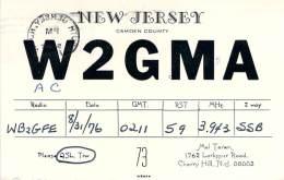Amateur Radio QSL - AC2GMA / W2GMA - Cherry Hill, NJ -USA- 1976 - 2 Scans - Radio Amateur