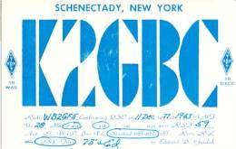 Amateur Radio QSL - K2GBC - Schenectady, NY -USA- 1977 - 2 Scans - Radio Amateur