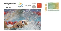 Spain 2016 - Olympic Games Rio 2016 - Silver Medal Swimming 400 Free Male China Cover - Juegos Olímpicos
