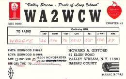 Amateur Radio QSL - WA2WCW - Valley Stream, NY -USA- 1976 - 2 Scans