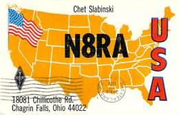 Amateur Radio QSL - N8RA - Chagrin Falls, OH -USA- 1977 - 2 Scans - Radio Amateur