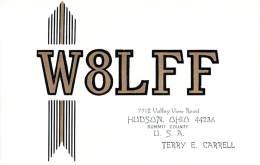 Amateur Radio QSL - W8LFF - Hudson, OH -USA- 1977 - 2 Scans