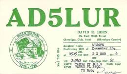 Amateur Radio QSL - AD5LUR - Okmulgee, OK -USA- 1976 Bicentennial