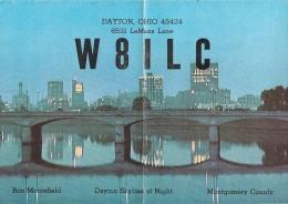 Amateur Radio QSL - W8ILC - Dayton, OH -USA- 1976 - 2 Scans - 8.5 X 6 Inch Card (has A Fold)