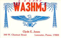 Amateur Radio QSL - AA3HMJ / WA3HMJ - Lancaster, PA -USA- 1976 - 2 Scans