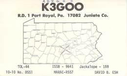Amateur Radio QSL - AD3GOO / K3GOO - Port Royal, PA -USA- 1976 - 2 Scans