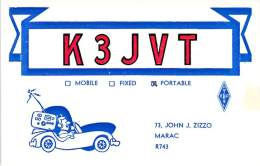 Amateur Radio QSL - K3JVT Portable In Dauphin County, PA -USA- 1977 - 2 Scans