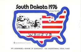 Amateur Radio QSL - WB0JYB - Huron, SD -USA- 1977 - 2 Scans - Radio Amateur