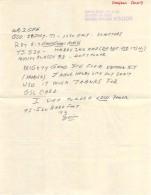 Amateur Radio QSL - K5GDX - Harlingen, TX -USA- 1977 - Hand Written Letter QSL