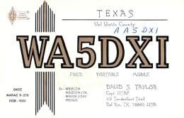 Amateur Radio QSL - AA5DXI / WA5DXI - Del Rio, TX -USA- 1976 - 2 Scans
