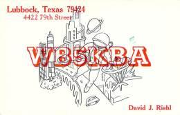 Amateur Radio QSL - WB5KBA - Lubbock, TX -USA- 1977 - 2 Scans