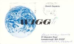 Amateur Radio QSL - W1GG/1 - Manchester, VT -USA- 1977 - 2 Scans