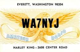 Amateur Radio QSL - WA7NYJ - Everett, WA -USA- 1977 - 2 Scans
