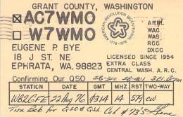Amateur Radio QSL - AC7WMO - Ephrata, WA -USA- 1976 - 2 Scans
