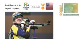 Spain 2016 - Summer Olympic Games Rio 2016 - Gold Medal Virginia Thrasher Prepaid Cover - Juegos Olímpicos