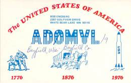 Amateur Radio QSL - AD0MVL/9 - Portable In Bayfield, WI -USA- 1976 - 2 Scans