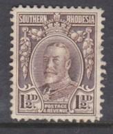 Southern Rhodesia 1933, Field Marshall, 1 1/2d, Perf 12,  Unused, No Postmark, No Gum - Rhodésie Du Sud (...-1964)