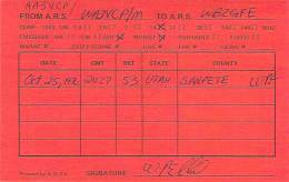 Amateur Radio QSL - AA3VCP / WA3VCP Mobile In Sanpete County, UT -USA- 1976