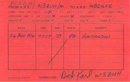 Amateur Radio QSL - AC3ZUH - W3ZUH Mobile In Huntingdon County, PA -USA- 1976